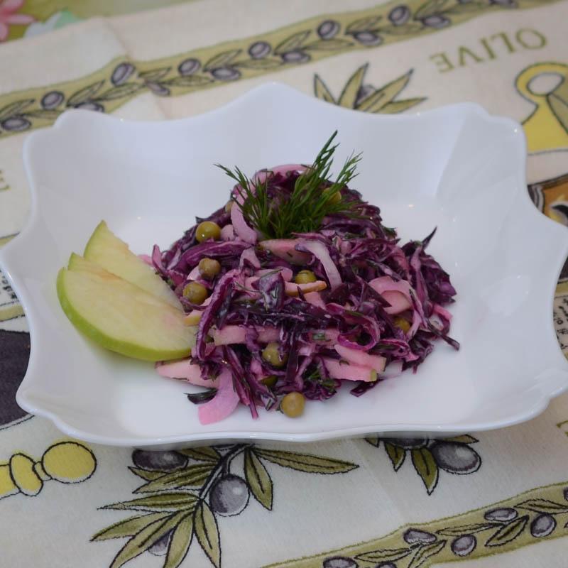 """Салат """"Витаминный"""" (яблоки, капуста)"""