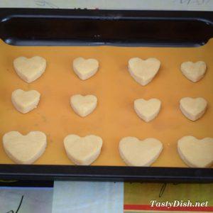 """печенье """"ванильные сердца"""""""