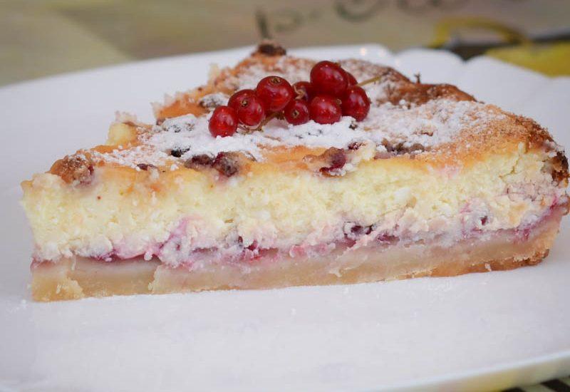 пирог с красной смородиной, красная смородина
