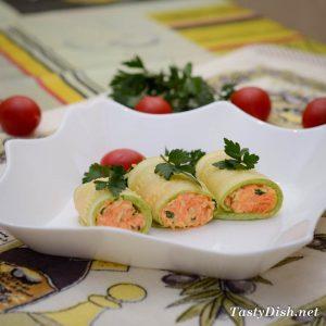 рулетики из кабачков, вкусные кабачки