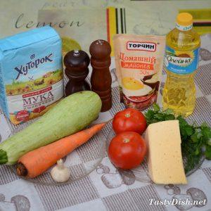 закуска из кабачков, сыра и моркови