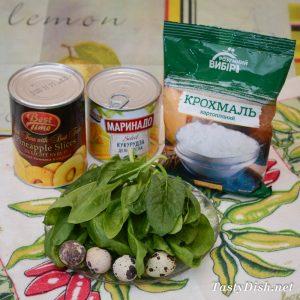 салат со шпинатом фото