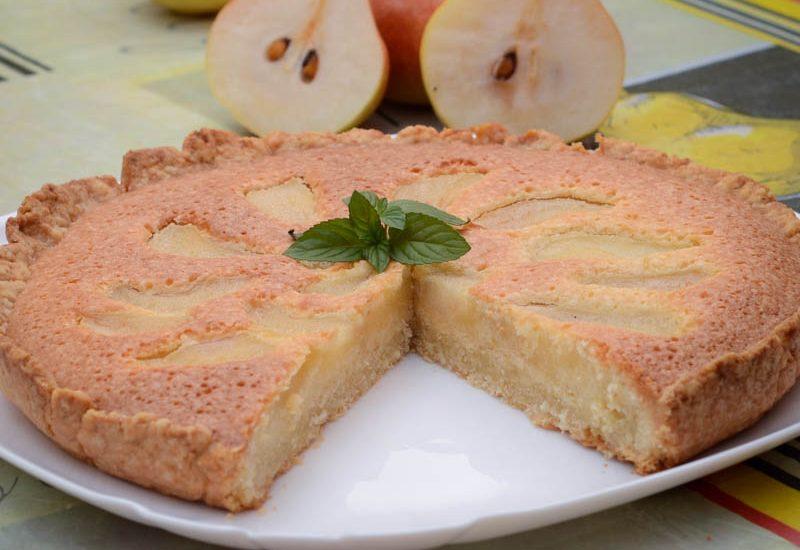 простой грушевый пирог фото