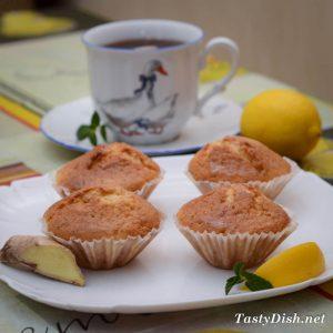 лимонные маффины с имбирем фото
