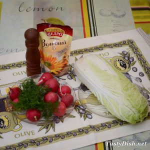 вкусный салат из пекинской капусты с редисом
