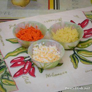 вкусный салат из сардины и яиц