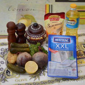 вкусный салат с сельдью и свеклой пошагово
