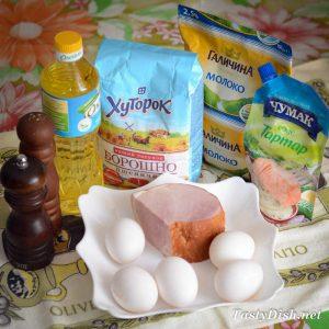 очень вкусные блины с ветчиной и яйцом рецепт с фото