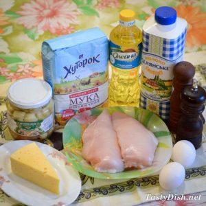 очень вкусные блины с курицей и грибами рецепт с фото