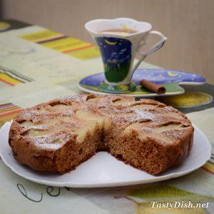 вкусный имбирный пирог с яблоками простой рецепт с фото