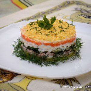 простой салат из печени трески рецепт с фото