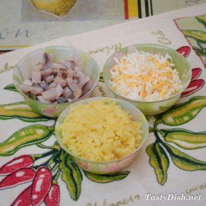 вкусный салат сельдь под зеленой шубой рецепт с фото