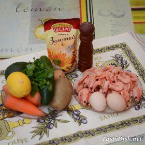 простой салат с авокадо и креветками рецепт с фото