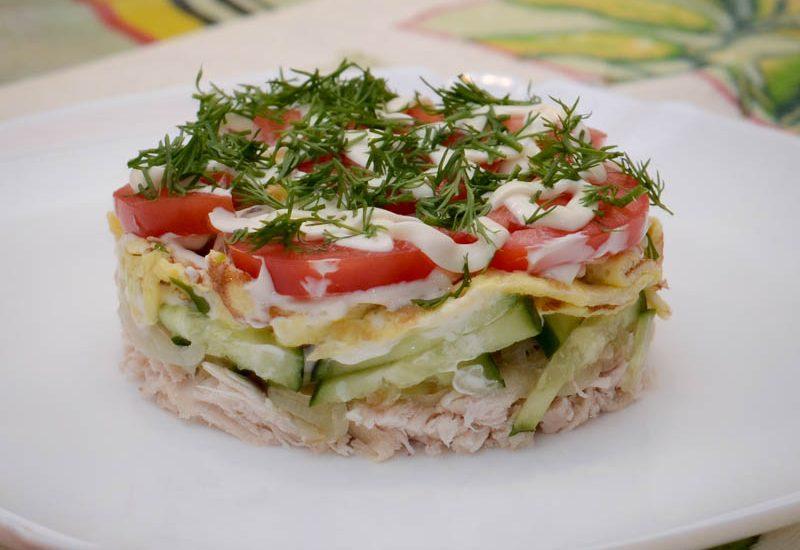 рецепты сытных салатов с фото пули морочь