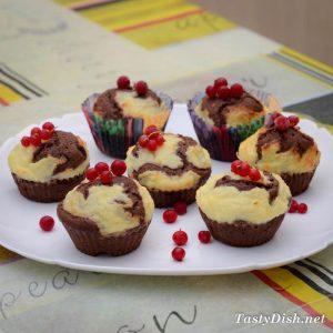вкусный шоколадно-творожный кекс