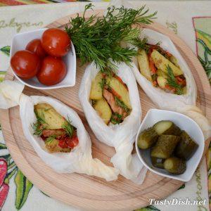 свинина запеченная с овощами с духовке