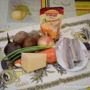 вкусный селедочный салат с сыром