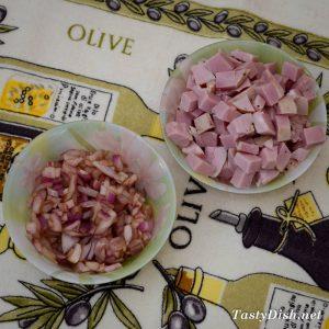 вкусный салат мясной с овощами