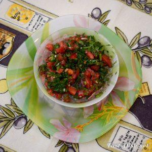 вкусный салат с маринованными баклажанами рецепт с фото