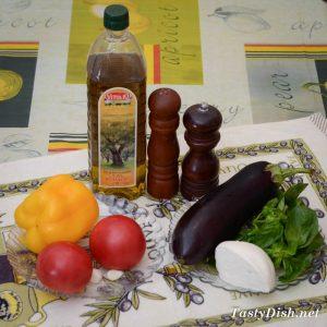 вкусный салат из жареных баклажанов