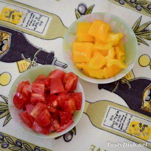 овощной салат с баклажанами и сыром рецепт с фото