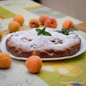 заливной пирог с абрикосами рецепт с фото