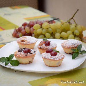 вкусный кекс с виноградом рецепт с фото