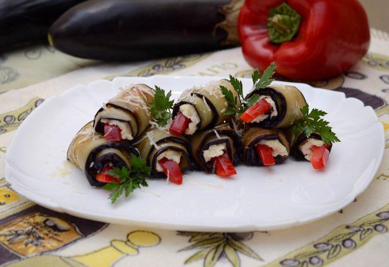 вкусные рулетики из баклажанов с сыром рецепт с фото