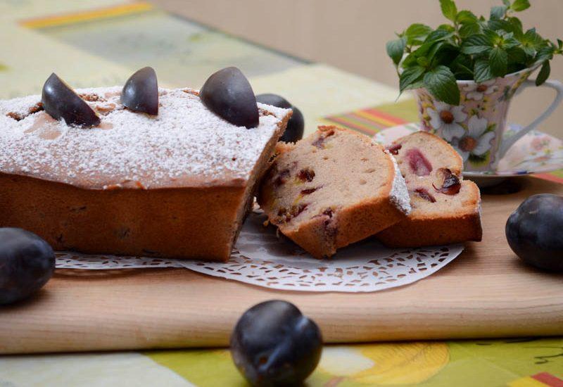 простой кекс со сливами рецепт с фото