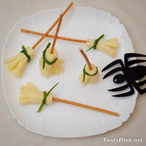 закуска на Хэллоуин метла ведьмы рецепт с фото
