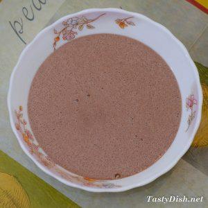 шоколадный пирог с творожными шариками рецепт с фото