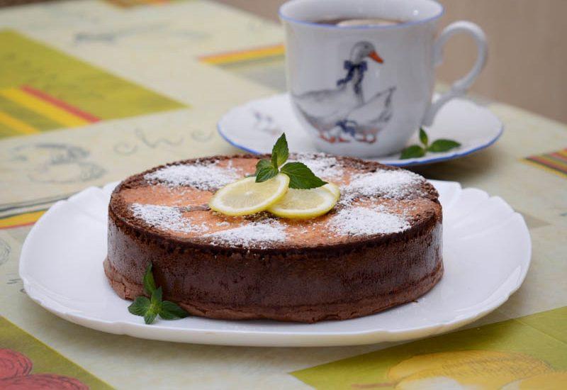 простой шоколадный пирог с творогом рецепт с фото