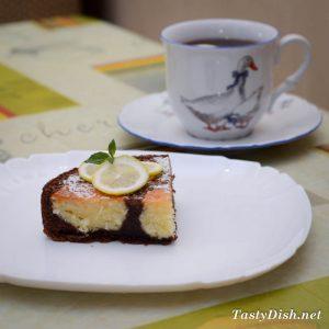 вкусный шоколадный пирог с творогом рецепт с фото