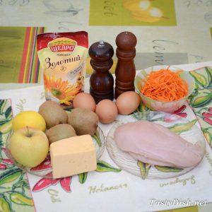 салат африка с киви и курицей рецепт с фото