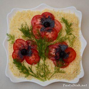 """вкусный салат """"красные маки"""" рецепт с фото"""