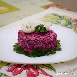 простой салат со свеклой и яйцом рецепт с фото
