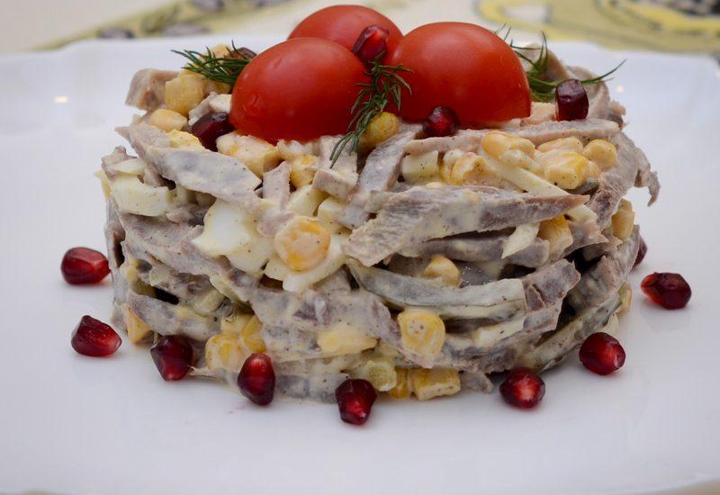 очень вкусный салат с языком рецепт с фото