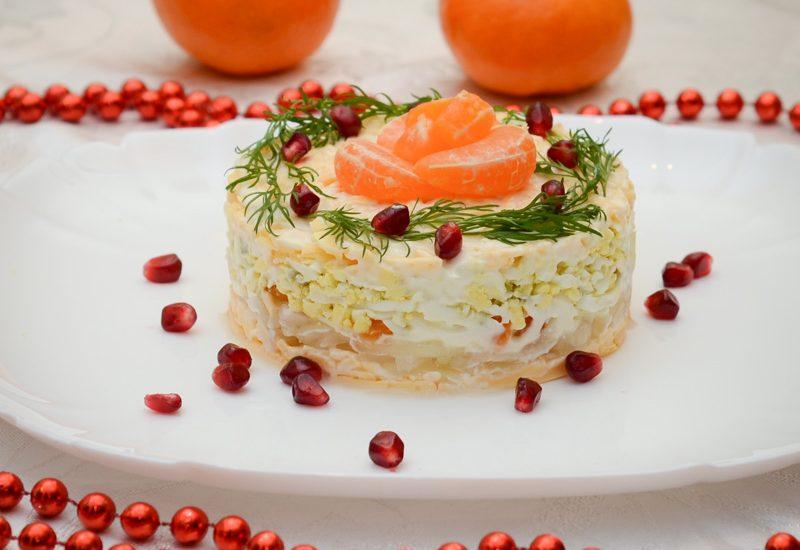 вкусный салат с мандаринами рецепт с фото
