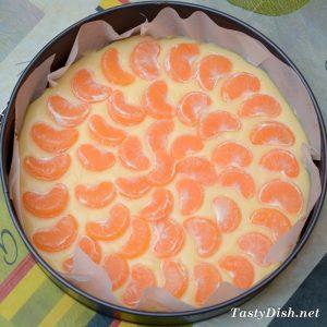 быстрый пирог с мандаринами рецепт с фото