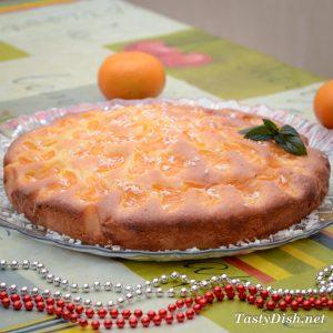 вкусный пирог с мандаринами рецепт с фото