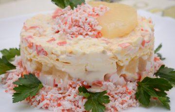 вкусный салат с консервированными ананасами рецепт с фото пошагово