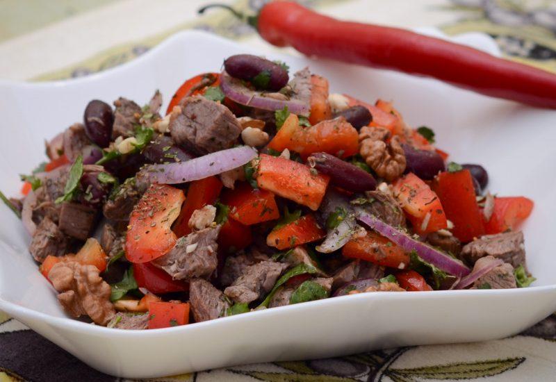 грузинский салат тбилиси с красной фасолью и говядиной рецепт с фото пошагово