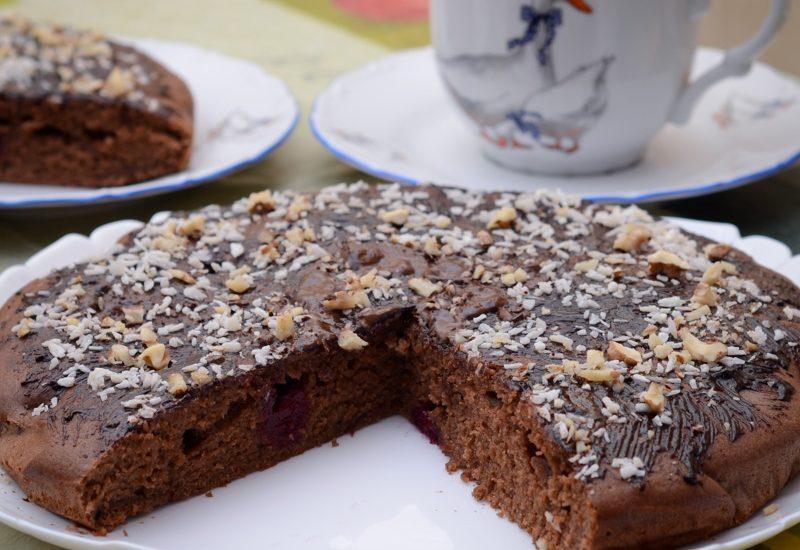 простой пирог с вишней рецепт с фото пошагово