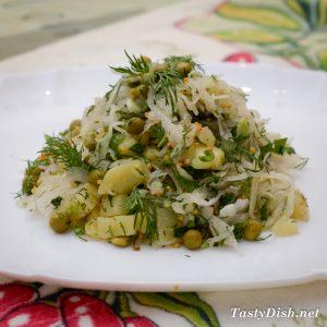 салат из квашеной капусты рецепт с фото пошагово