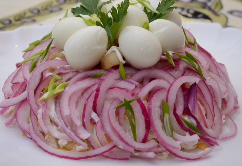 вкусный салат из пекинской капустой с курицей рецепт с фото пошагово