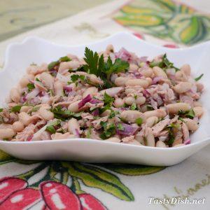 салат с тунцом и фасолью рецепт с фото пошагово