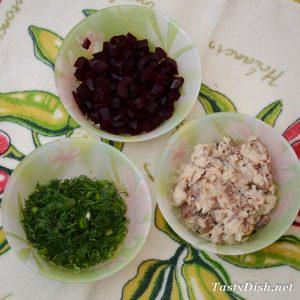 вкусная закуска из сельди и свеклы рецепт с фото пошагово