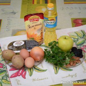 ингредиенты для слоеный салат со шпротами рецепт с фото
