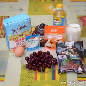 ванильные маффины с вишней рецепт с фото пошагово