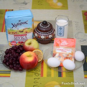 вкусный пирог с яблоками и вишней рецепт с фото пошагово